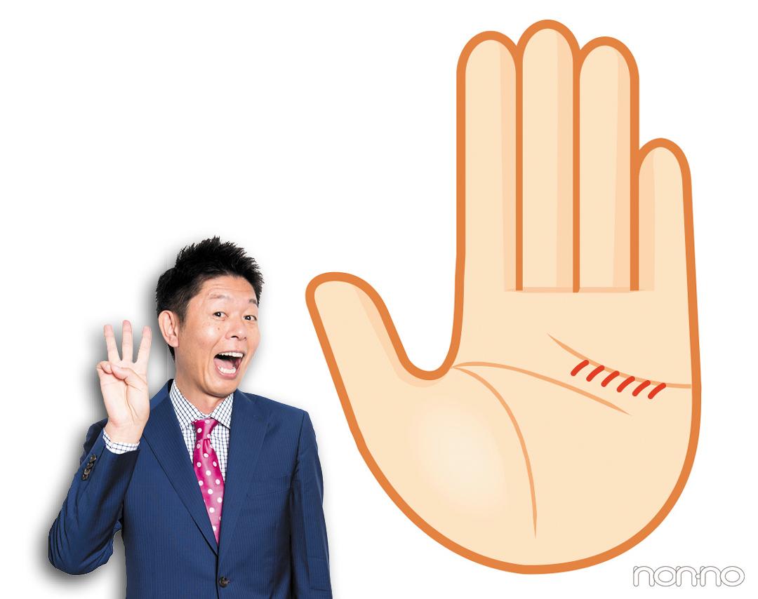 気にしすぎ線|島田秀平さんの最強手相占い!