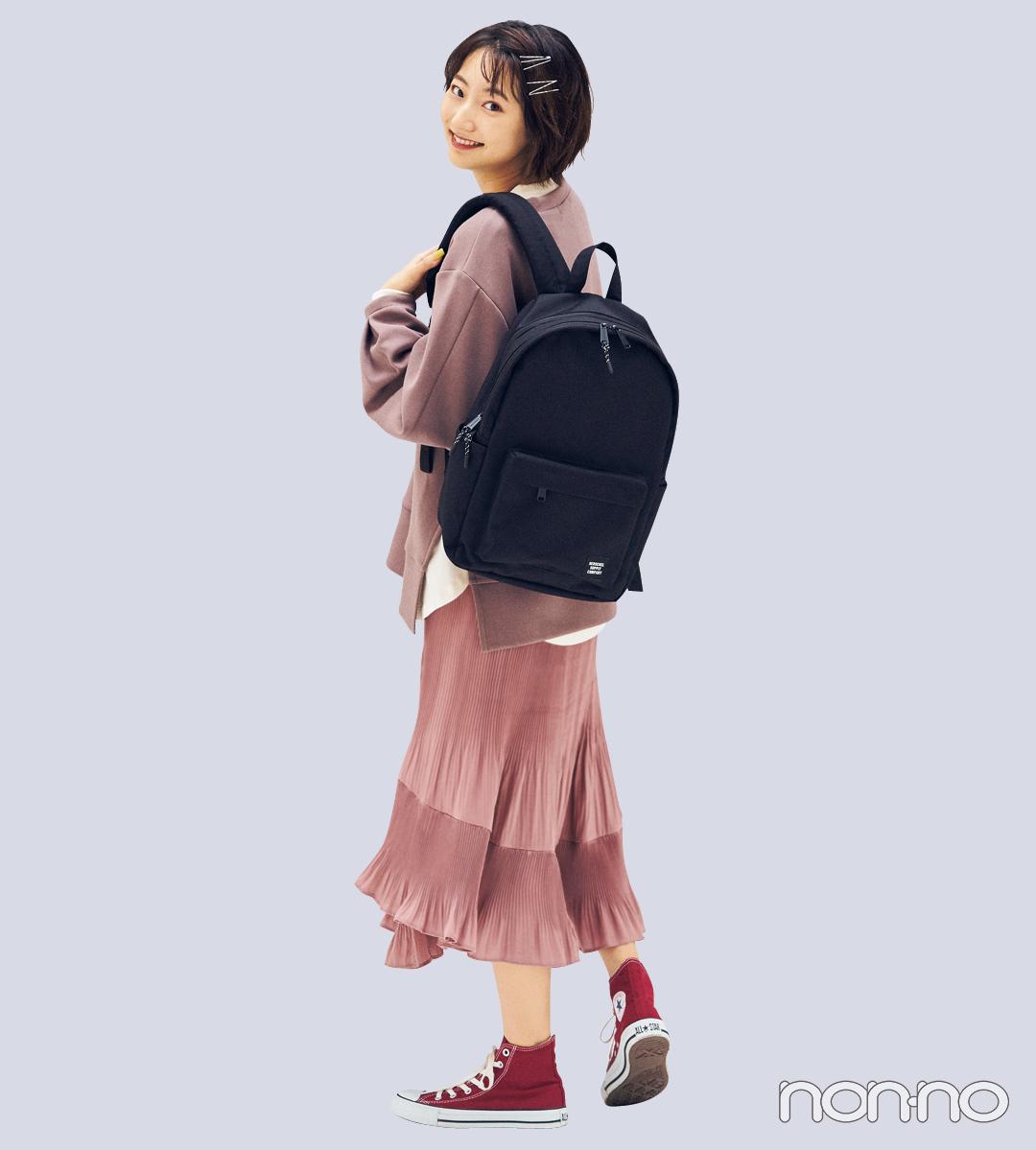 カジュアル派の毎日バッグは「黒リュック」が鉄板! _1_4