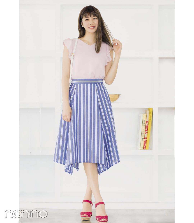 細見え&涼し気見えが叶うストライプスカート、真夏のコーデ3選!_1_1-2