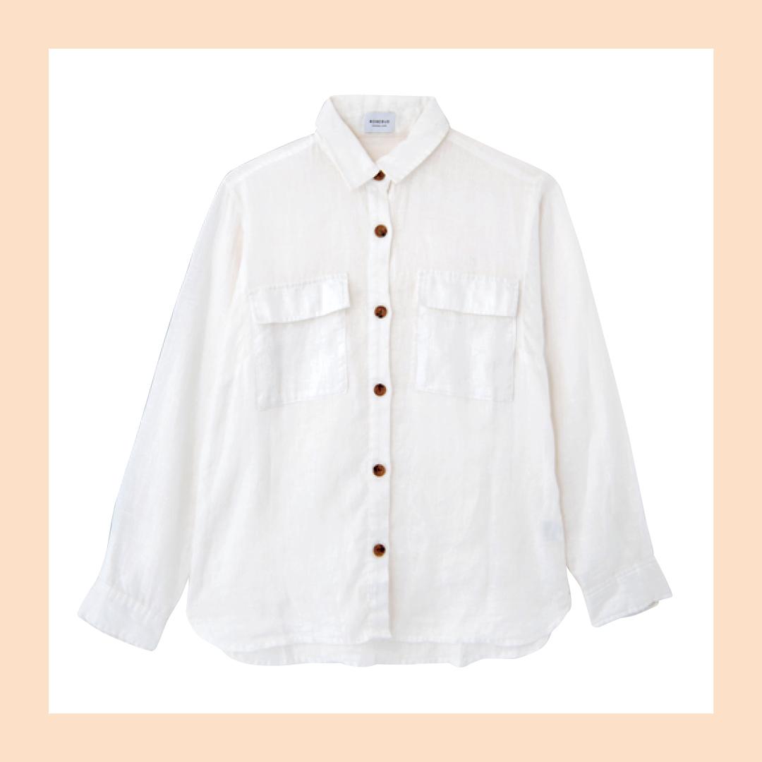 新木優子の白シャツ着回しコーデ7通り★ きれいめもカジュアルもお任せ!_1_2