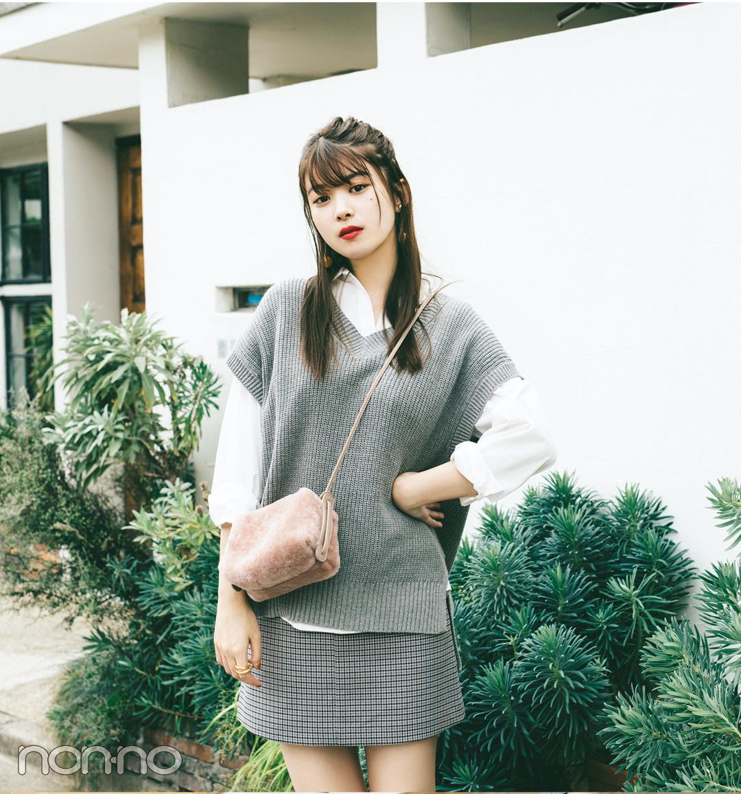 2019秋冬トレンド★ コーデが決まるシャツつきニットベスト5選!_1_2
