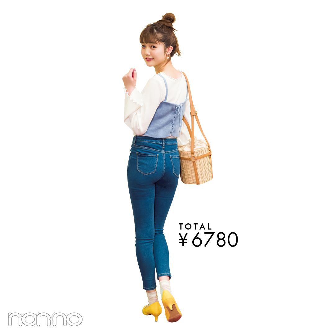【夏のデニムコーデ】松川菜々花のトータル9940円以下で完成! ボウリングのときの正解コスパコーデ