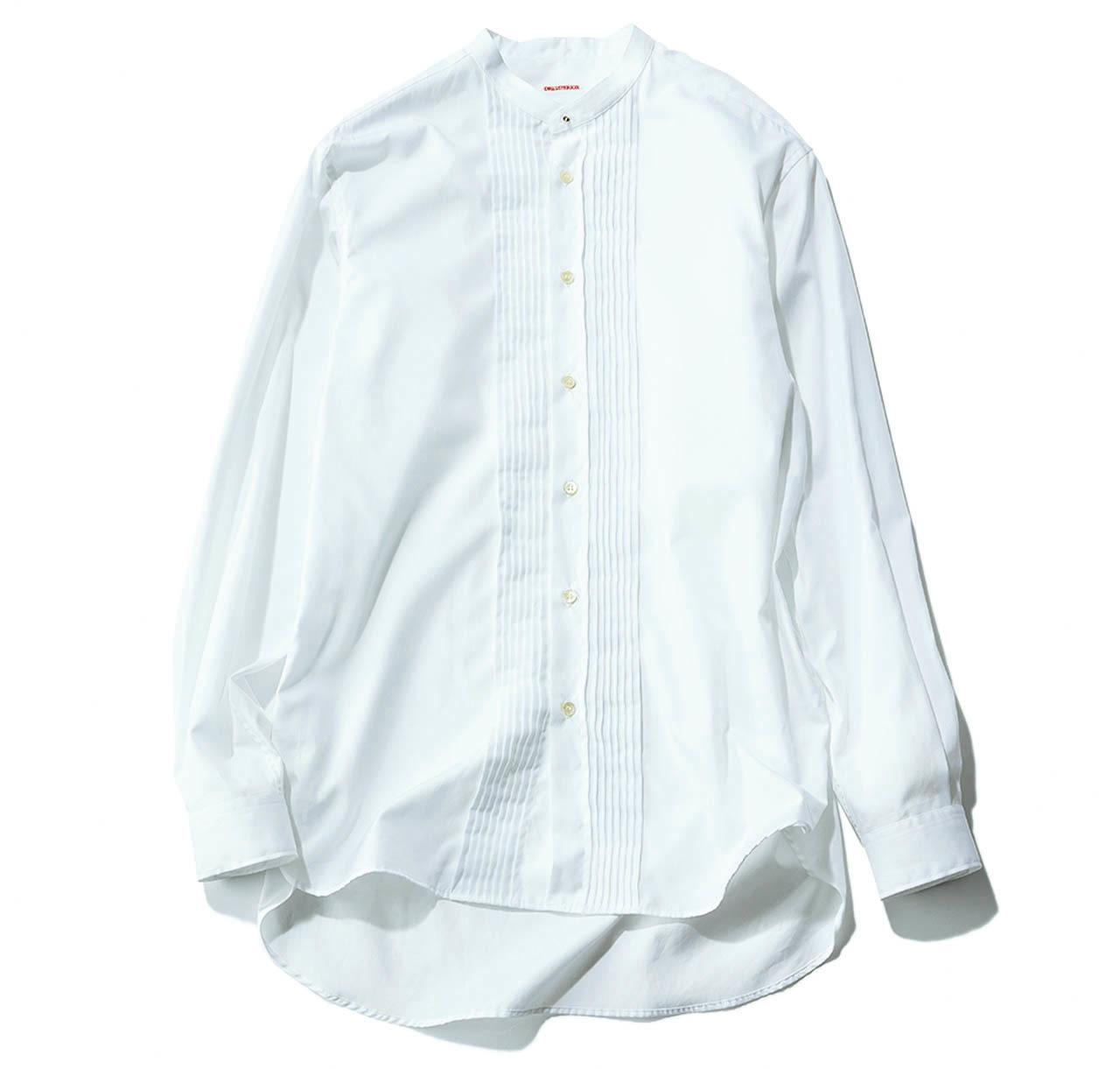 ドレステリアのバンドカラー シャツ