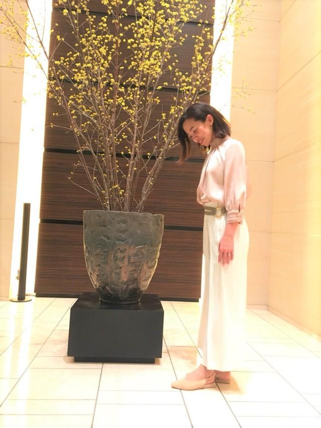 【ZARA】高みえ♡光沢ベージュブラウスで、コンラッド東京「セリーズ」ディナー _1_1