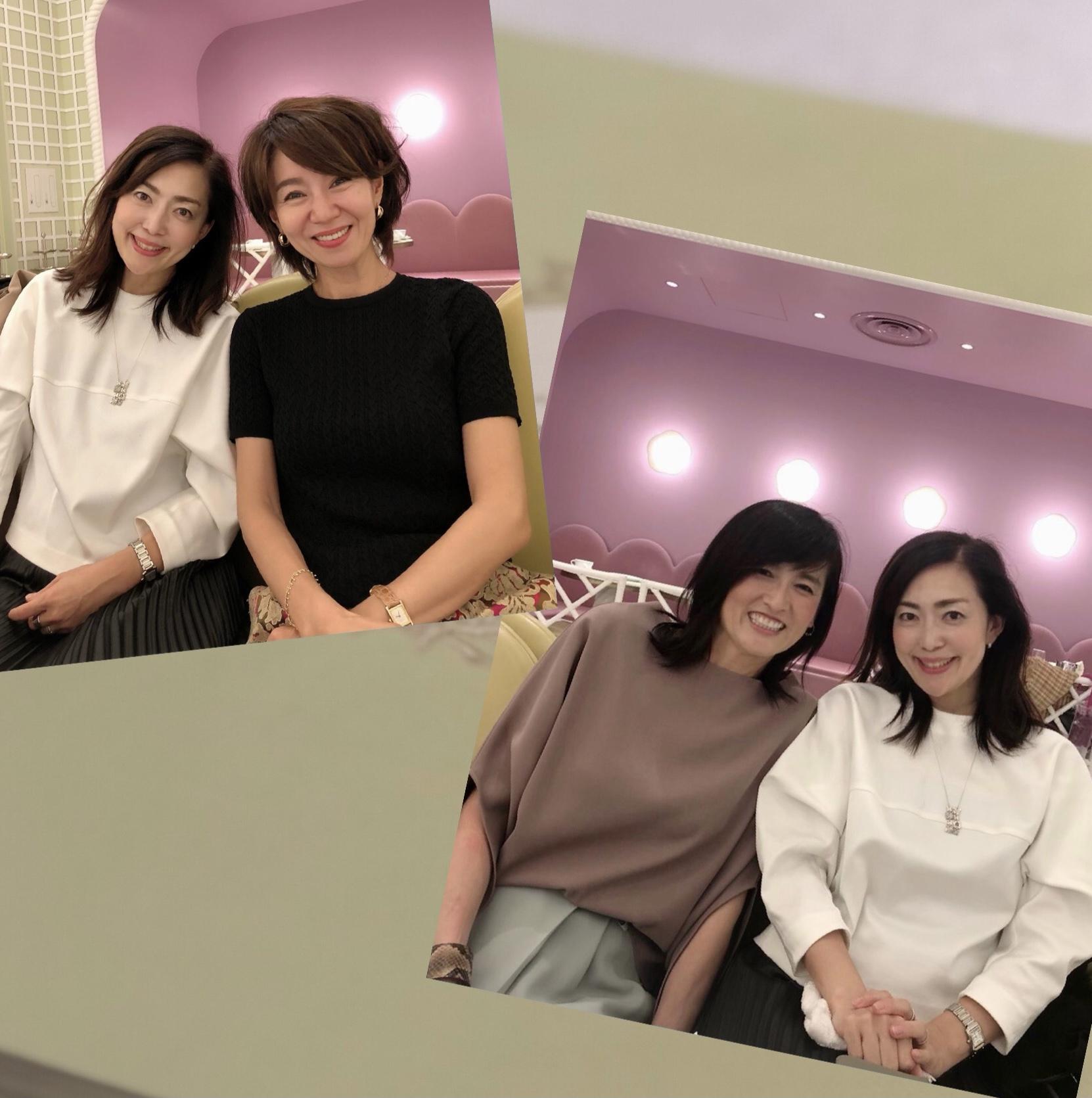 モノトーンコーデで華組ランチ♡_1_5-2