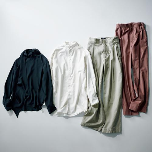 ロエフのパンツ、シャツ、ブラウス