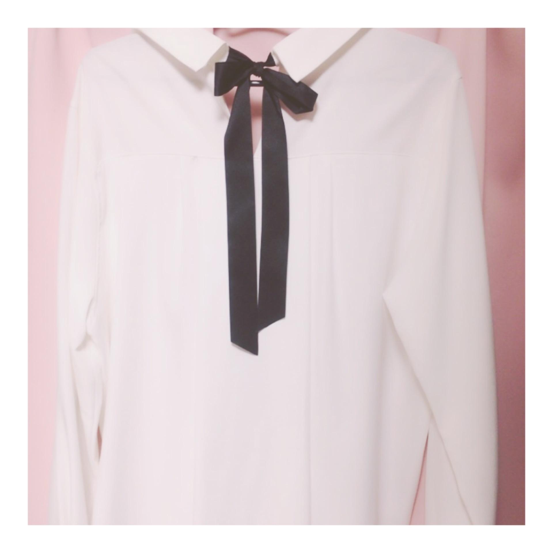 スキッパーシャツ+バックデザイン♩《INGNI リボンスキッパーシャツ》_1_4