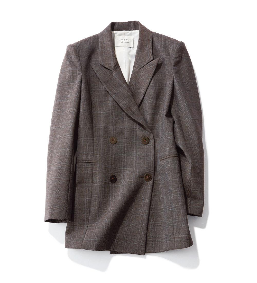 ファッション 秋トレンドのチェック柄ジャケット