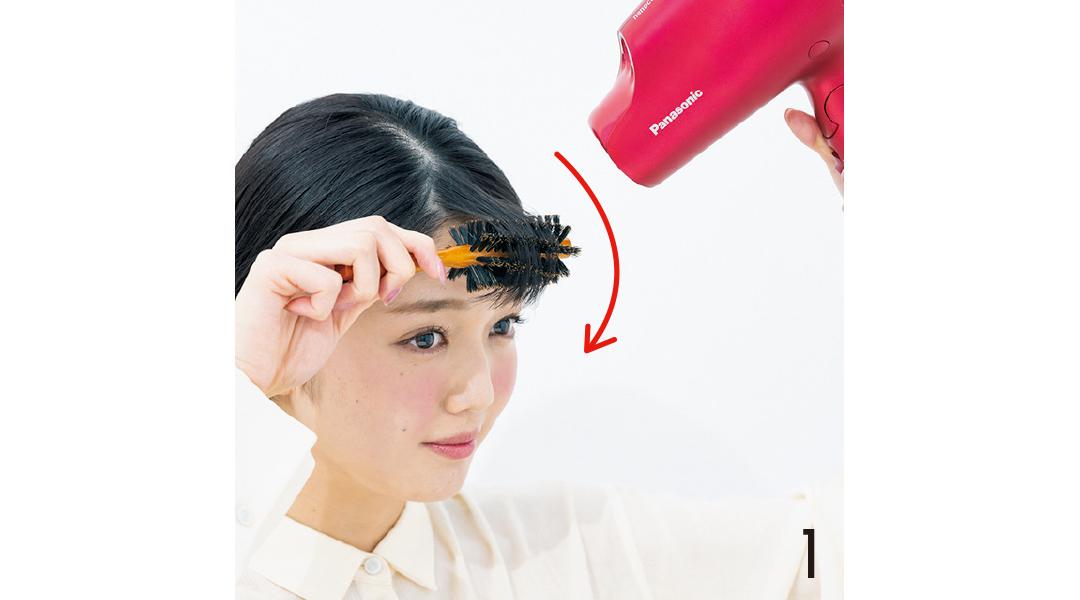 """ヘア崩さない女子の""""うねらない""""前髪ブロー&スタイリング超ていねい解説!_1_4"""