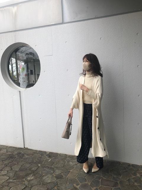 【華ボトム】ニット×柄パンツ_1_3