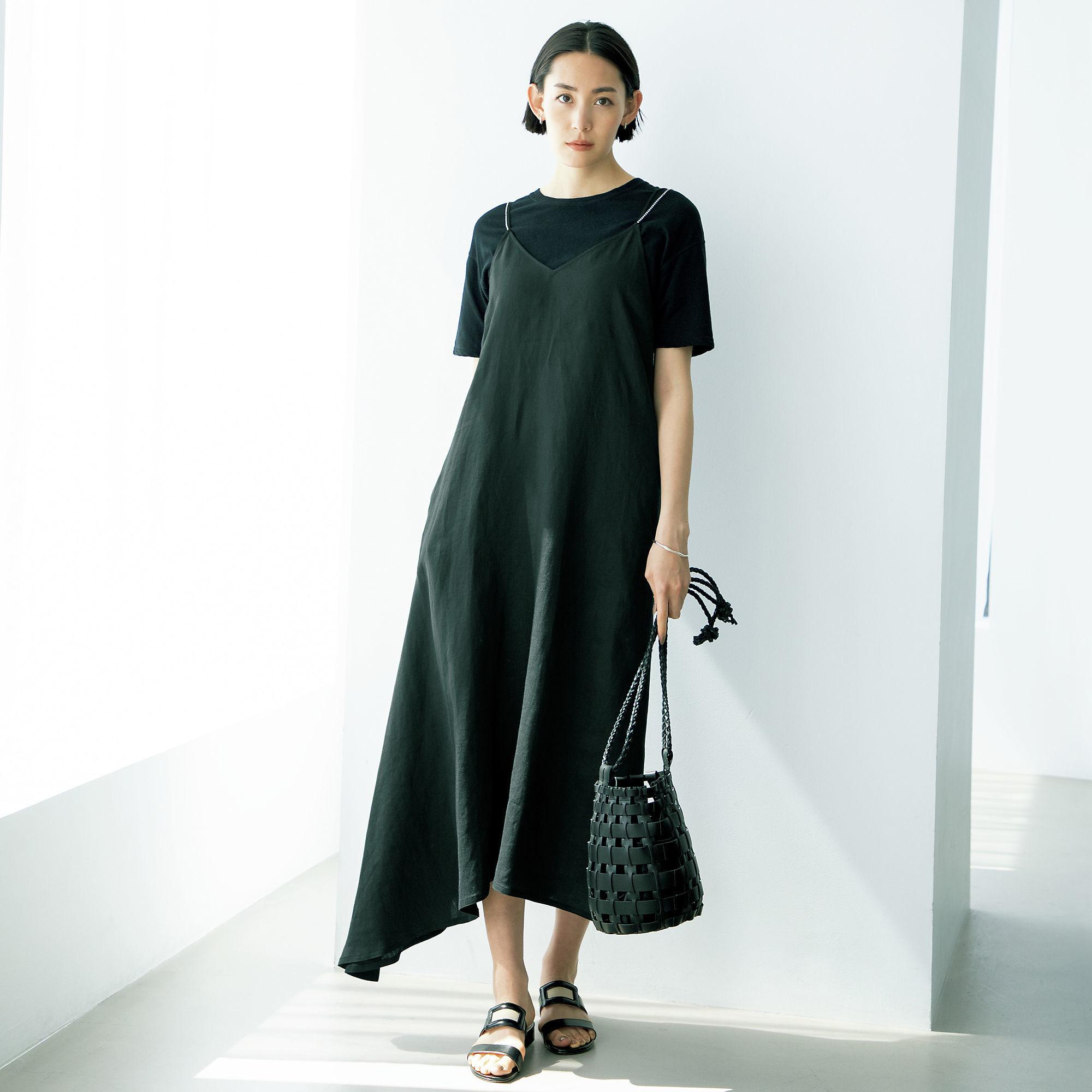 森慶子×raspail コットンリネンTシャツ