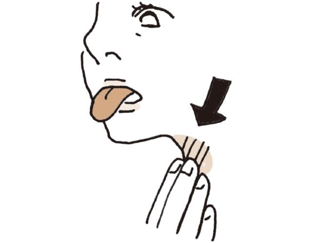 舌をベーッと前に3回出す。