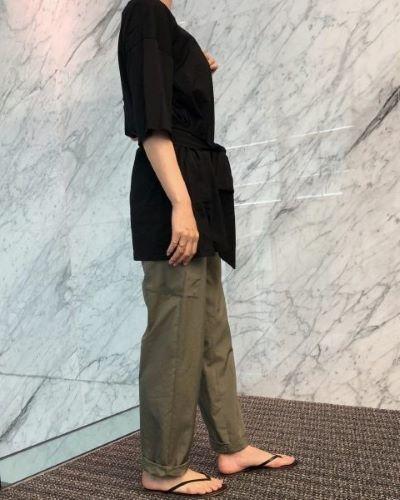 E by eclat 撥水きれいめカーゴパンツ ¥19,800