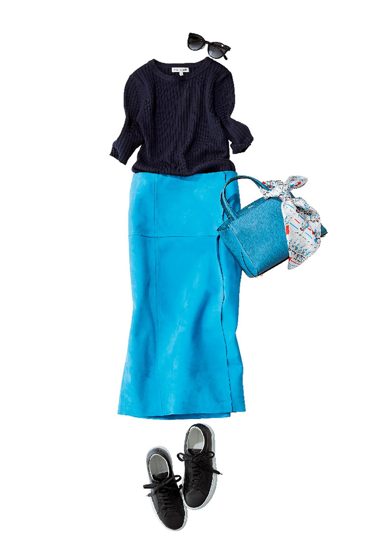 ブルーのスカートは、涼やかな美人感で360度好感度! 五選_1_1-5