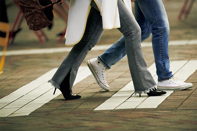人気スタイリスト 大草直子のショッピング&ランチのときの休日ファッションコーデ パートナーとデニムをリンク
