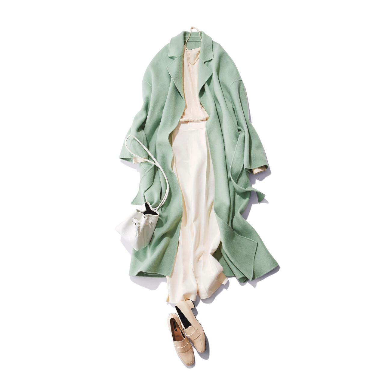 真冬コーデの差し色はコレ!グリーンに注目|40代 2020冬ファッション_1_7