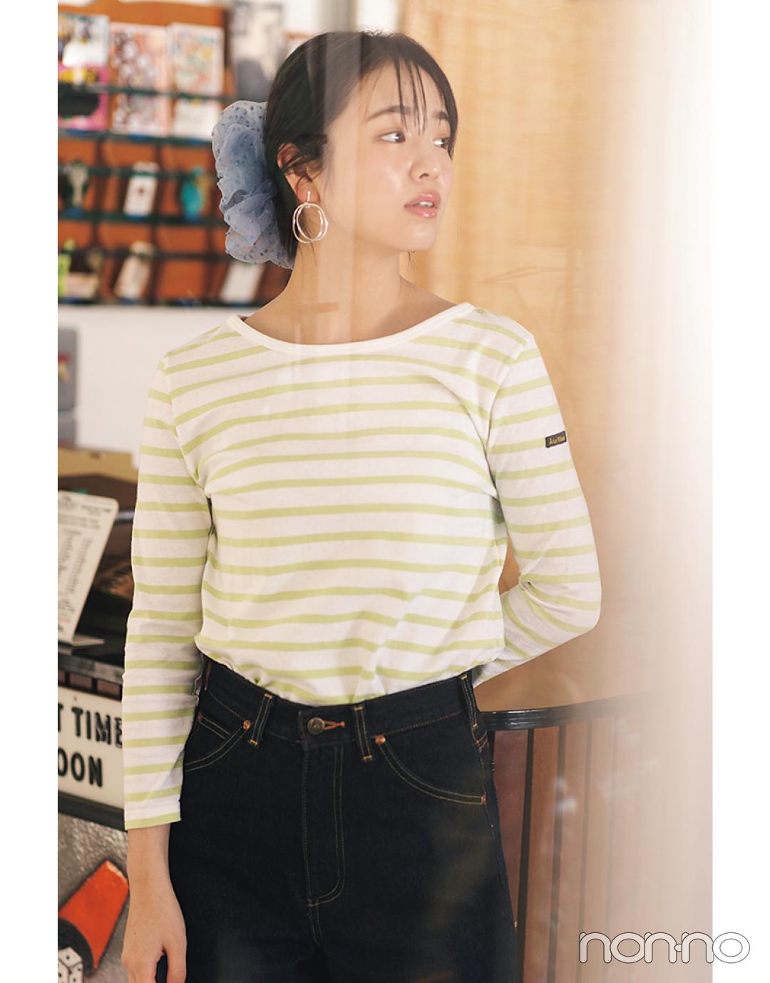 横田真悠が着るバックコンシャスTシャツコーデ19