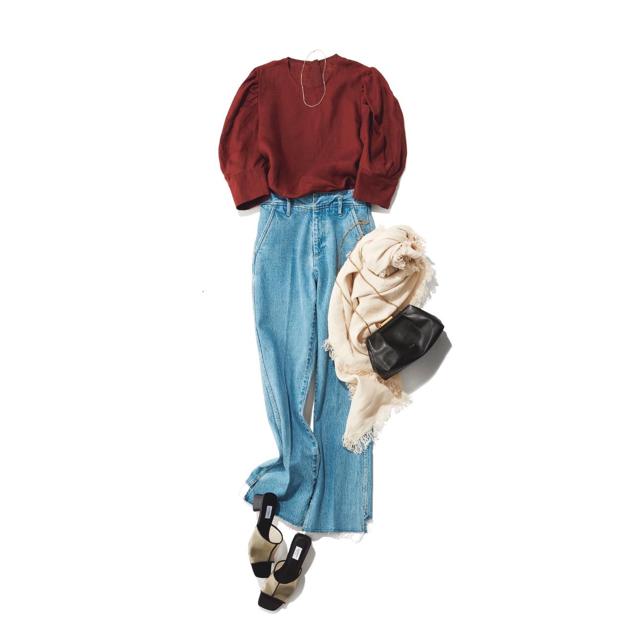 「ストール」でアラフォーの夏コーデをブラッシュアップ! 冷房対策にもおしゃれにも効くストールの取り入れ方  40代ファッション_1_9