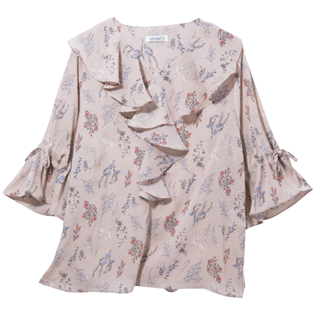 韓国ファッション2018夏♡ レトロなフリルブラウスコーデがイン!_1_2-3