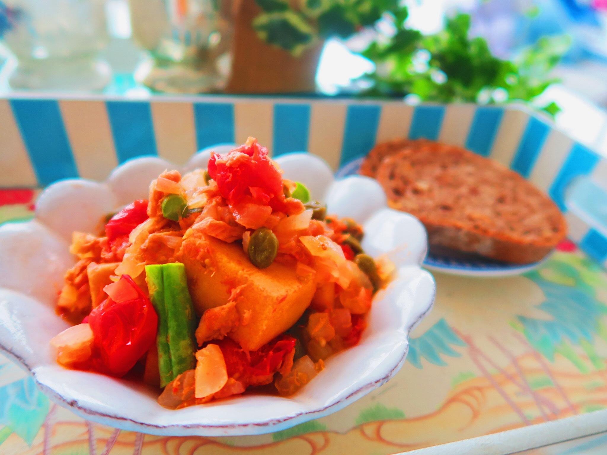 ぎっしり栄養の宝庫・高野豆腐のトマト煮_1_1