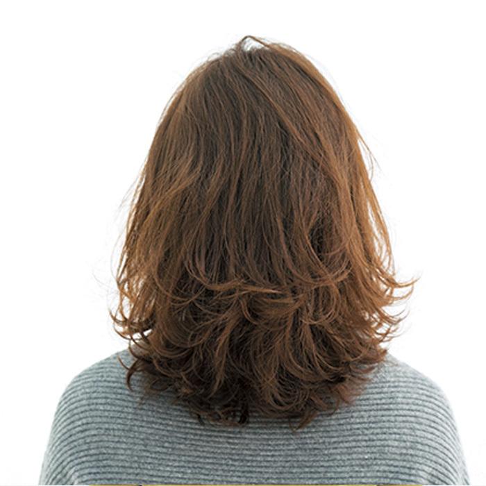 「+ワンテク」で魅せる最新ミディアムスタイル【40代のミディアムヘア】_1_3