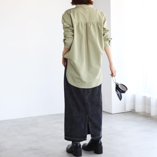 晩夏から秋に活躍!変形ピンタックシャツ【tomomiyuコーデ】_1_6