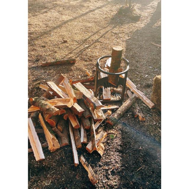 薪ストーブ用の薪は自分で庭木を切って調達