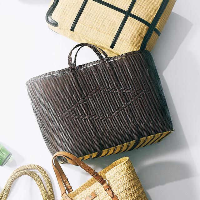 かご素材のマーケットバッグ ¥21,200/アパルトモン 神戸店(パロローザ)