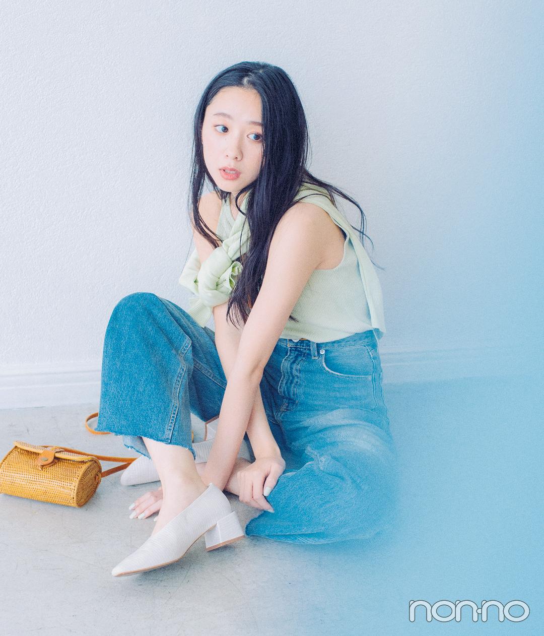 西野七瀬&堀田真由の春のあいまいカラーコーデ♡ 寒色系パステルならこんな感じ!_1_7
