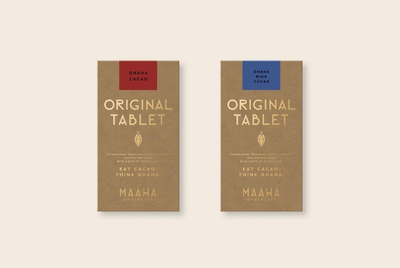 『MAAHA CHOCOLATE (マーハ チョコレート) 』「チョコレート(ノーマル・ハイカカオ)」各¥825(税込)