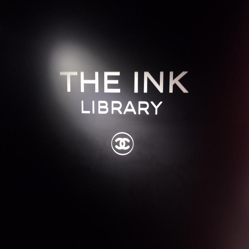 シャネルのポップアップ、THE INK LIBRARY