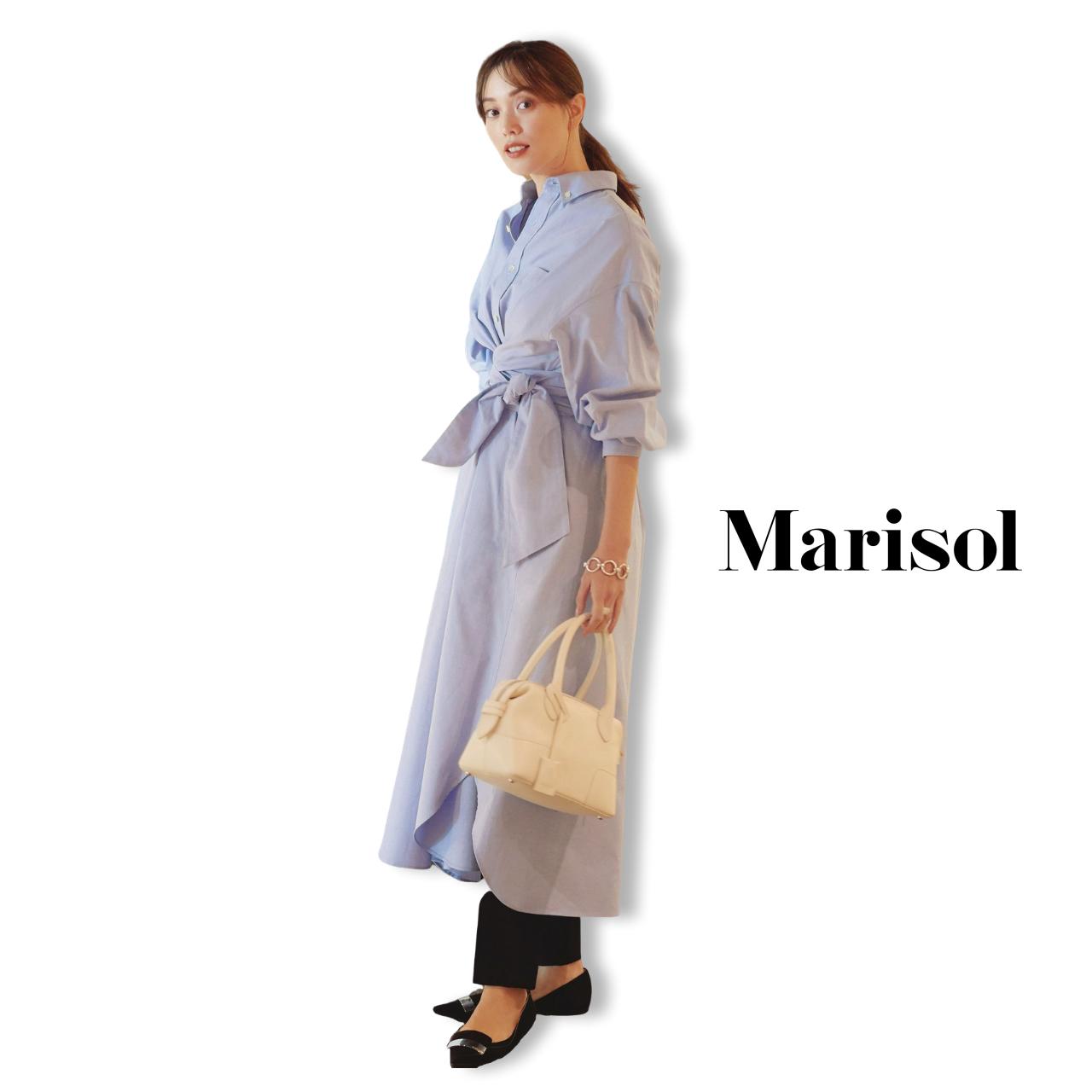 40代ファッション シャツワンピース×パンツコーデ