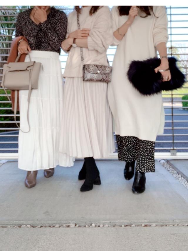 【冬の女子会コーデ】やっぱりみんな白が好き。_1_3