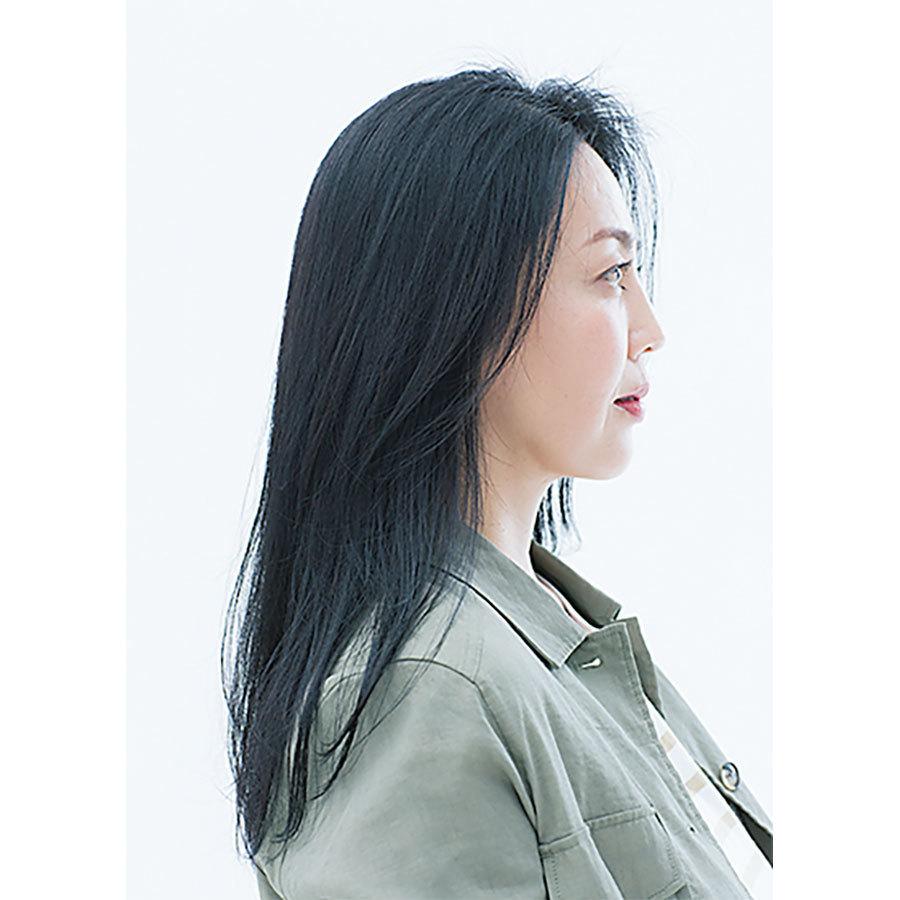 横から見た人気ロングヘアスタイル2位の髪型