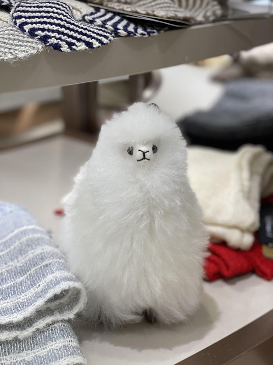 本物のアルパカの毛でできた人形