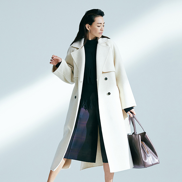 「MARELLA」軽くリッチな一重仕立てのコート