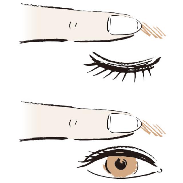 眉毛の動きをCHECK!