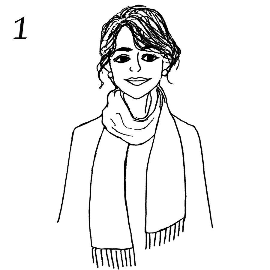 アウターに合わせたストール術「ジャケット×汎用性の高いベーシック巻き」_1_3-1