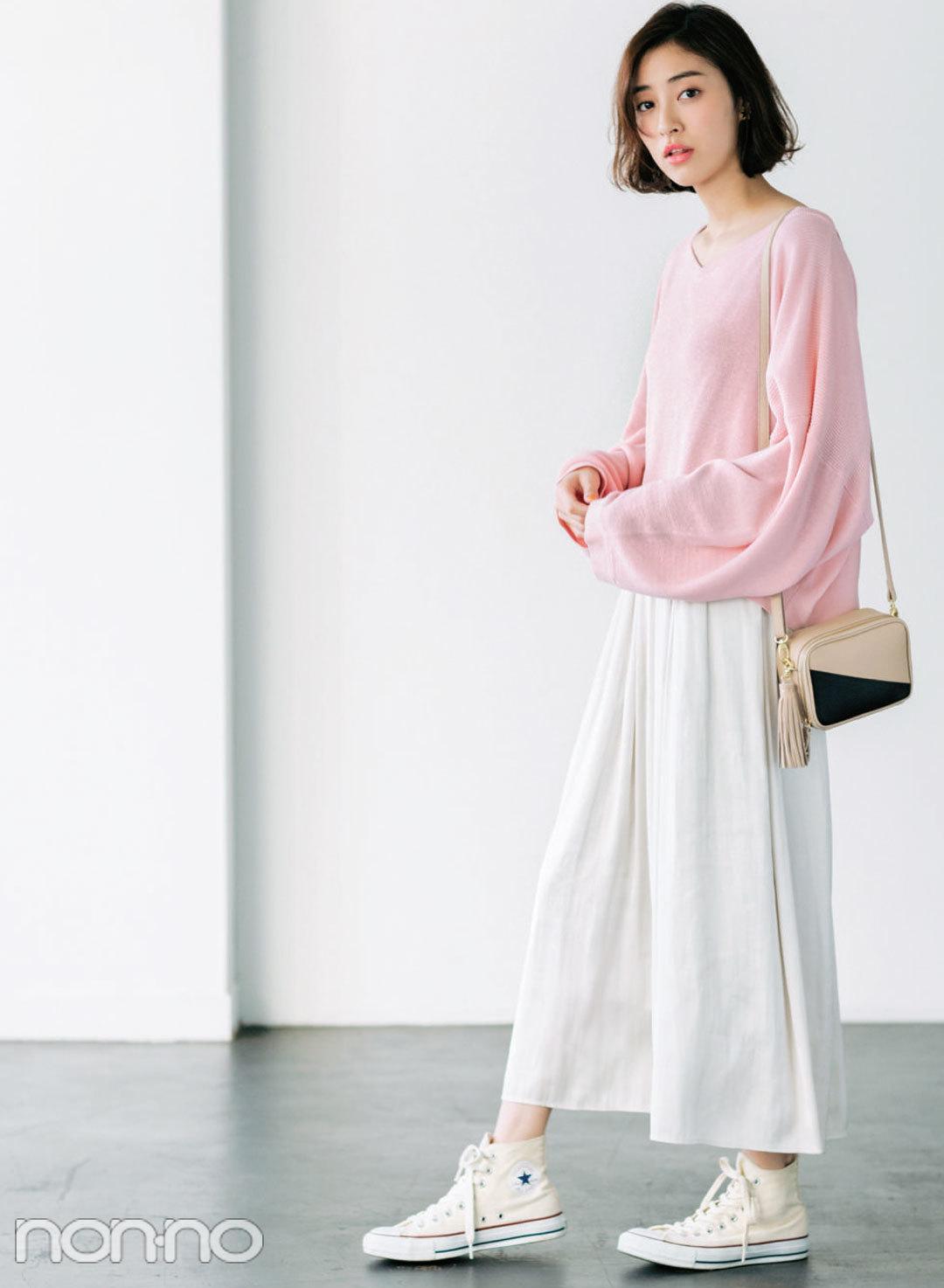 人気ブランド春のセット買い☆ビームスでは淡ピンクトップス+スカーチョ_1_1