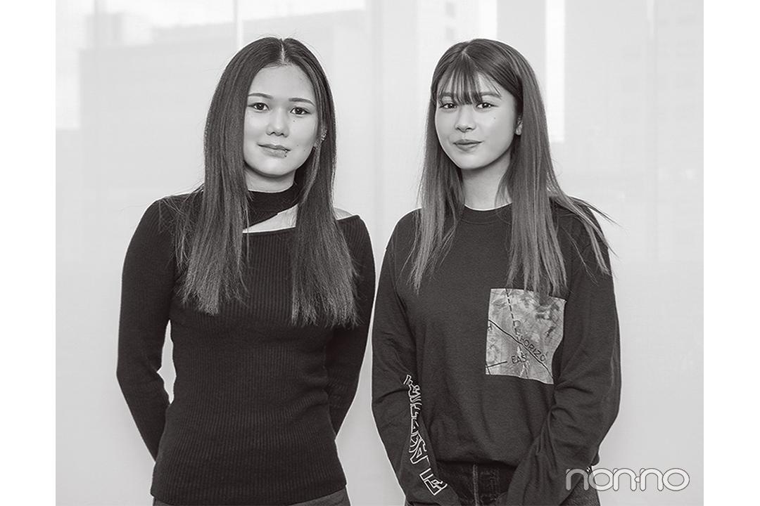 馬場ふみかと金原ひとみさん(小説家)のオフショット