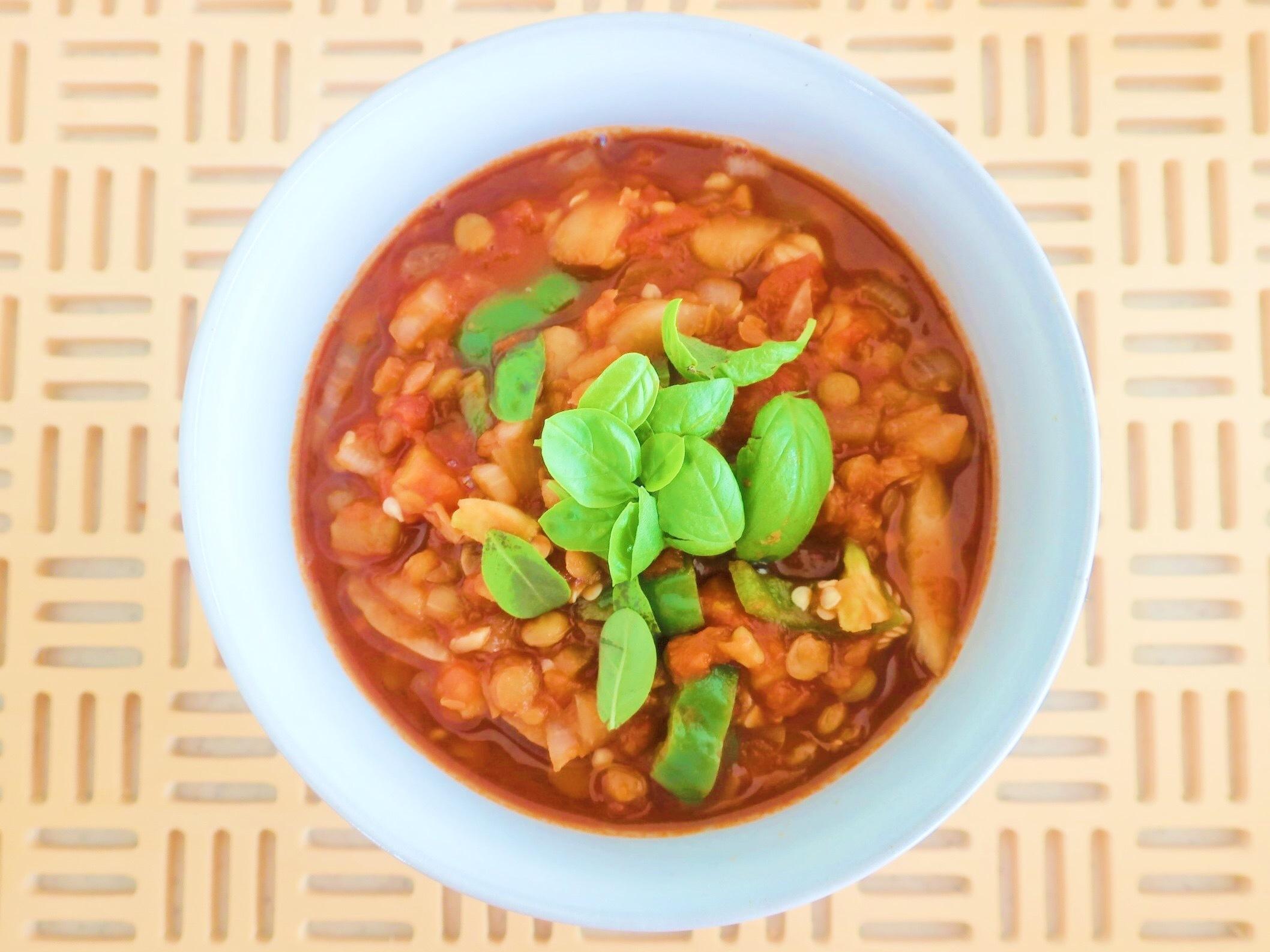 夏の疲れ肌に、リコピンたっぷりのトマト&レンズ豆のスープ_1_1