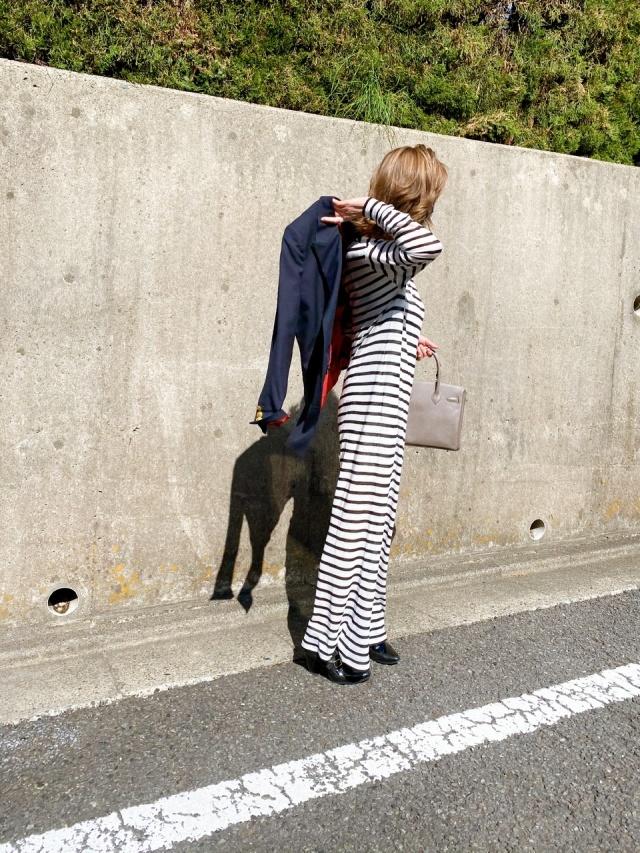 【紺ジャケ✖️ボーダー】春めいた日のお気に入りコーデ❤︎_1_5