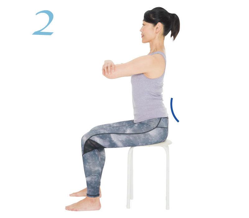 骨盤をしなやかにする方法2:坐骨の位置調整エクササイズのやり方2