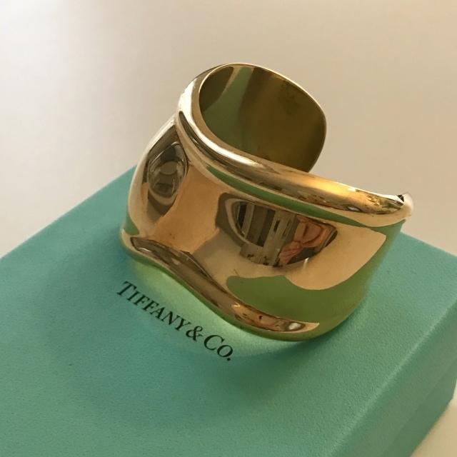 Tiffany ボーンカフ ゴールド