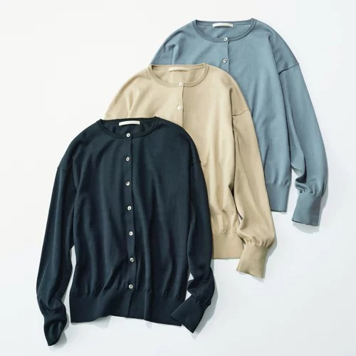 E by eclat シルク混カーディガン ¥16,500