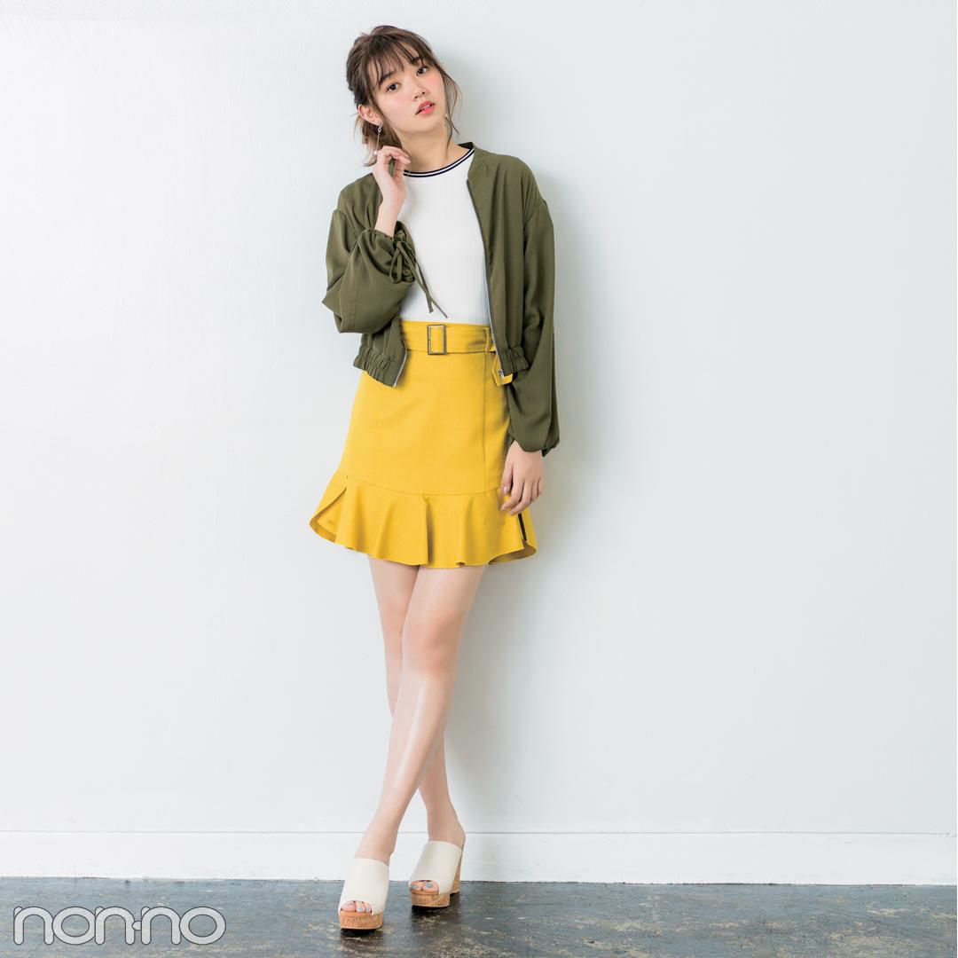 きれいめミニ丈の台形スカート、脚がキレイに見えるコーデはコレ!_1_2-2