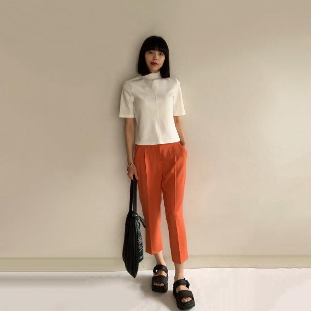 Marisol5月号の特集「きれい色」に倣ってオレンジボトムを着回してみた!!_1_2