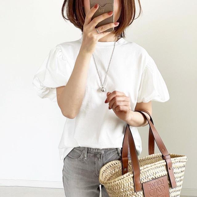 『ZARA』サマ見えパフスリーブTシャツ【tomomiyuコーデ】_1_1