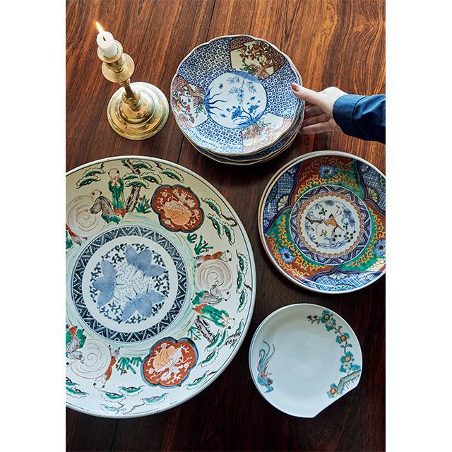 柿右衛門窯の器や古伊万里など、器はネットオークションなどで購入。