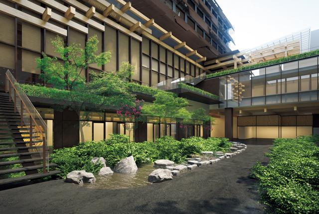 複合施設「新風館」のうち、2階以上が客室